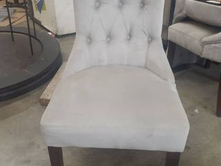 High Quality Grey Upholstered Dining Chairs - 5
