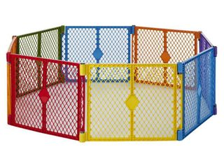 Toddleroo By North States Superyard Colorplay 8 Panel Freestanding Gate