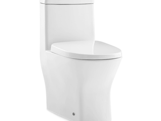 Swiss Madison Sublime II Compact Dual Flush Toilet with Side Holes  Seat Included