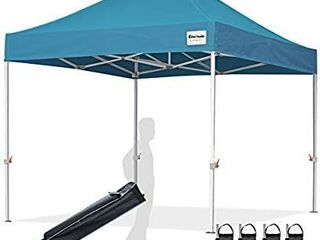 EliteShade 10 x10  Commercial Ez Pop Up Canopy Tent Instant Canopy Party Tent Sun Shelter with Heavy Duty Roller Bag Bonus 4 Weight Bags Turquoise  MISSING CANOPY AND WEIGHT BAGS  FRAME AND STORAGE BAG ONlY