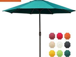 EliteShade Sunbrella 9Ft Market Umbrella Patio Outdoor Table Umbrella with Ventilation and 5 Years Non Fading Top Teal