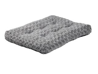 Plush Dog Bed   Ombre Swirl Dog Bed   Cat Bed   Gray 29l x 21W x 2H Inches for Medium Dog Breeds