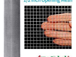 Amagabeli 48x100 1 2Inch Hardware Cloth Galvanized Welded Cage 19 Gauge Chicken Wire Mesh Fence Garden Plant