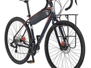 Mongoose Men s Elroy Urban Bike 700c Wheel Bicycle Blue 54cm one Size