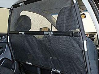 Bushwhacker 56 Inch Wide Deluxe Dog Barrier Ideal for Trucks  large Utility Vehicles  Full Size Sedans   Pet Rear Seat Divider  Car Door  Cargo Area  Trunk  Mesh Netting