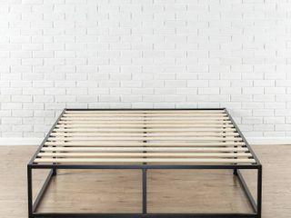 Zinus Modern Studio 14 Inch Platforma Bed Frame   Mattress Foundation with Wood Slat Support  Queen