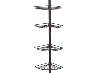 4 Tier Pole Caddy Heritage Bronze   Zenna Home   MISSING TWO SHElVES