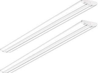 Antlux 110W 8FT lED Wraparound Ultra Slim Strip lights  12600lM  5000K  8 Foot lED Garage Shop lights  Flush Mount Warehouse Office Ceiling lighting Fixture  Fluorescent Tube Replacement  2 Pack