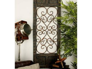 Deco 79 Wood Metal Wall Panel  20 by 57