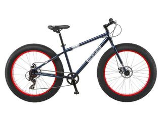 Mongoose 26  Dolomite Men s Fat Tire Mountain Bike   Navy Red   USED   Missing Pieces