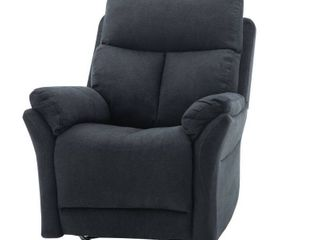 Classic Brands Twinkle Twinkle Popstitch Upholstered Recliner Chair  Black