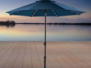 Activa ProShade 10ft  3 05m  Aluminium Market 40 lED Umbrella in Indigo