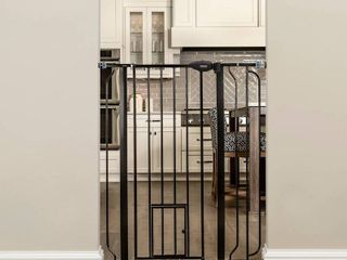 Carlson Dogs Walk Through Gate   Black   Extra Tall   MIGHT BE MISSING HARDWARE