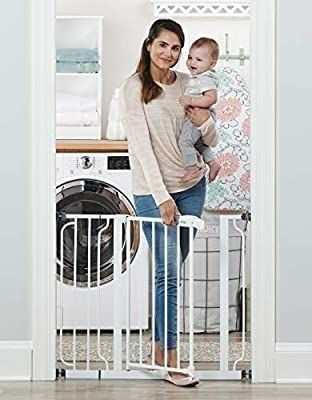 Regalo Easy Step 38 5 Inch Extra Wide Walk Thru Baby Gate   MIGHT BE MISSING HARDWARE
