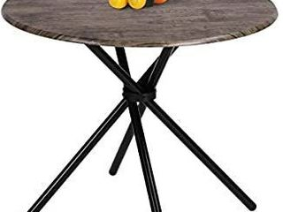 Kitchen Dining Table Industrial Brown Round Mid Century Vintage living Room Table Coffee Bristro Table for Cafe Bar Easy Assembly 31 4x31 4x29 5 Inches