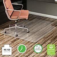 Deflecto EconoMat Clear Chair Mat  Hard Floor Use  Rectangle With lip  Straight Edge  45  x 53  Clear  CM2E232COM