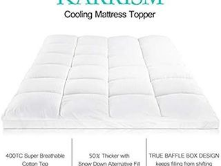 KARRISM Extra Thick Mattress Topper King  Cooling Mattress Pad Cover Topper  400TC Cotton Pillow Top  8 21Inch Deep Pocket
