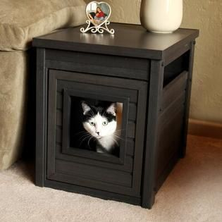 ECOFlEX litter Box Cover End Table   Espresso   COUlD BE MISSING PIECES AND HARDWARE