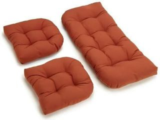 Blazing Needles Twill Settee Group Cushions  Spice  Set of 3