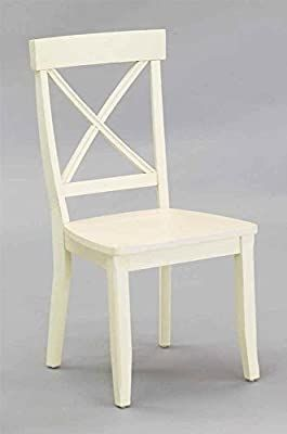 Classic White Pair of Dining Chairs by Home Styles