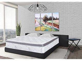 olee sleep 12 inch euro box hybrid memory foam innerspring mattress  queen  12sm01q
