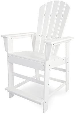 POlYWOOD SBD24 South Beach Counter Chair  White
