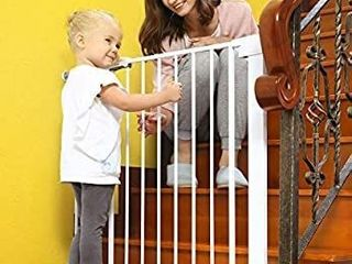 Baby Gates for Stairs and Doorways Dog Gates for The House  30 40 5 inches   Indoor Safety Gates for Kids or Pets  Walk Through Extra Wide Tall Metal Gate Pressure Mount Auto Close