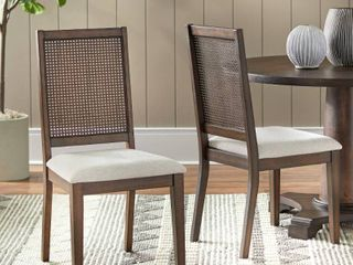 Simple Living Westbury Cane Dining Chair (Set of 2)- Retail:$171.49