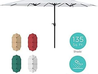 15' x9' Rectangluar Market Patio Umbrella Three Colors- Retail:$349.99