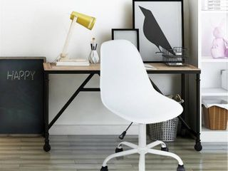 Porch & Den Waterford White Swivel Office Chair- Retail:$85.99