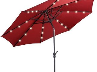 10 ft Patio Market Umbrella Outdoor with Solar Powered LED Light- Retail:$122.49