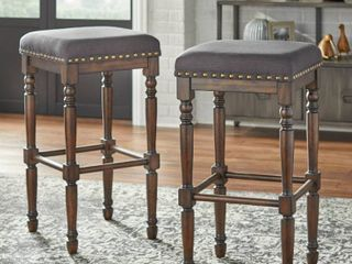 Lifestorey Grafton 30-inch Turned Leg Stools (Set of 2)- Retail:$142.99