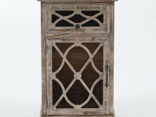 Rustic Wood and Metal Small Console Cabinet- Retail:$175.49