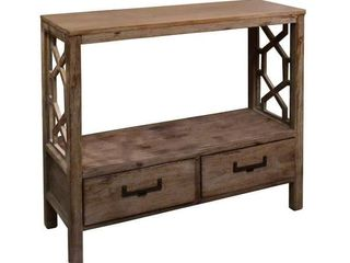 Madison 2 Drawer Console Table with Side Design- Retail:$121.49