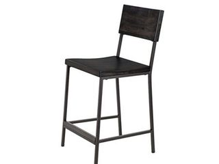 INK IVY Tacoma Black 24-inch Counter stool- Retail:$215.49