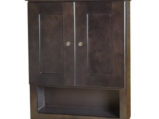 Espresso Bathroom Wall Cabinet- Retail:$251.91