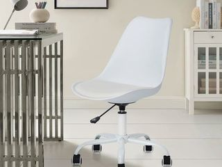 Porch & Den Stringer Molded/ Padded Seat Mid-century Modern Task Chair- Retail:$96.99