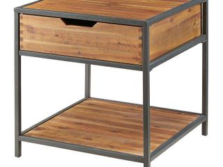 Madison Park Ryker Natural/Graphite End Table - Retail:$193.00