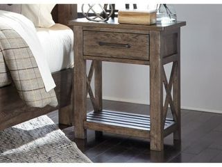 Sonoma Road Weather Beaten Bark 1-drawer Night Stand- Retail:$213.99