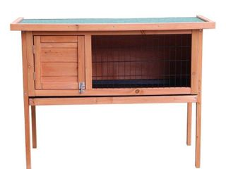 "36""/48"" Waterproof Coop Rabbit Hutch Wood House Pet Cage for Small Animals- Retail:$151.99"