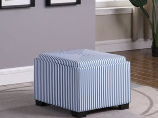 17.5 in Stripes Single Tufted Storage Otoman- Retail:$119.49