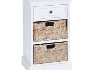 Deco 79 Wood Basket Cabinet, 28 by 16-Inch