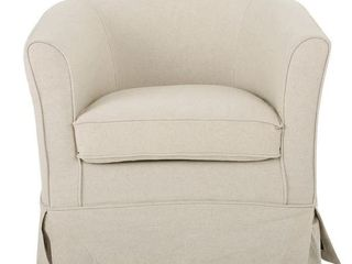 Cecilia Beige Fabric Swivel Club Chair by Christopher Knight Home Brand Name brand Christopher Knight Home