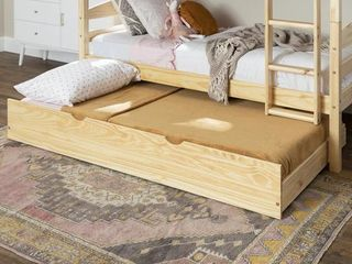 Solid Wood Trundle Bed - Natural