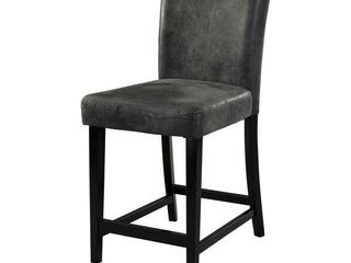 Porch & Den Southmoor Charcoal Counter Stool- Retail:$127.49