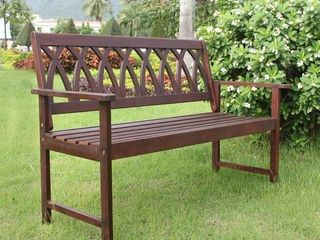 Jacksonville Criss Cross Garden Bench by Havenside Home- Retail:$115.99