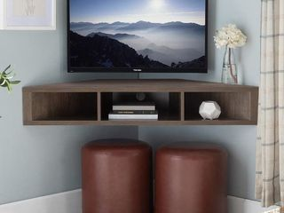 Copper Grove Sukhumi Floating Corner Wall-mounted Media Console- Retail:$145.99