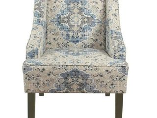 Porch & Den Holman Fabric Upholstered Swoop Armchair- Retail:$181.99