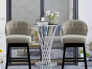 HOMCOM Tufted Back Counter-height Bar Stools (Set of 2)- Retail:$319.99