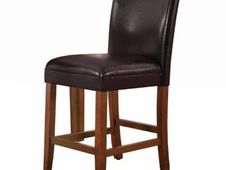 24-inch Luxury Brown Faux Leather Barstool - 24 inches- Retail:$87.99